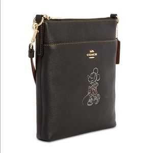 Minnie Motif Messenger Crossbody in Pebble Leather